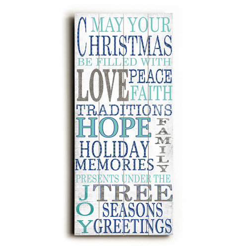 Artehouse LLC Love Hope Under the Tree Wooden Wall D cor