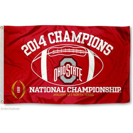 Ohio State Buckeyes 2014 National Champions 3 X 5 Pole Flag
