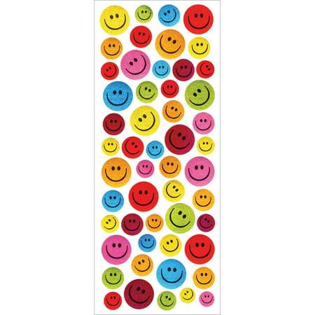MultiCraft Glitter Stickers-Smiley Faces - Walmart.com