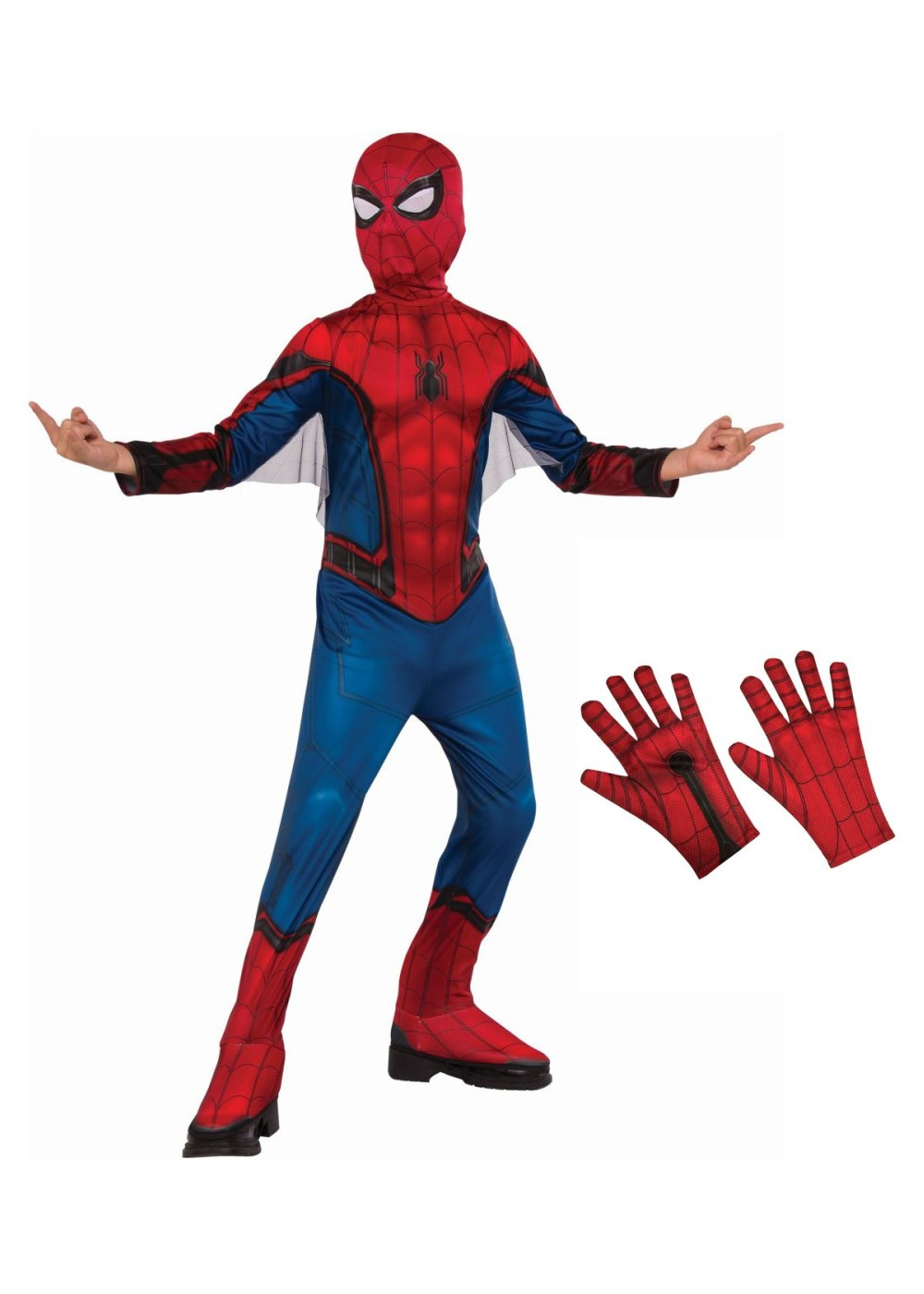 Spiderman Homecoming Boys Costume and Gloves Set by