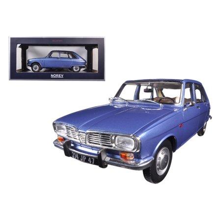 1968 Renault 16 Cobalt Blue Metallic 1/18 Diecast Model Car by Norev (Metallic Blue)