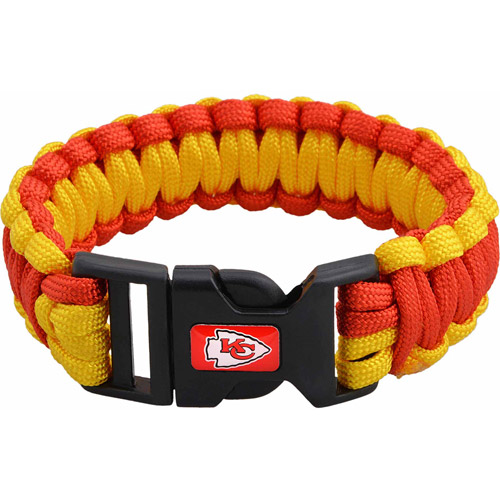 NFL Men's Chiefs Nylon Survivor Bracelet