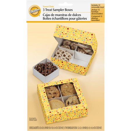 Wilton 4-Cavity Sampler Treat Box, with Removeable Trays 3 ct. 415-1451