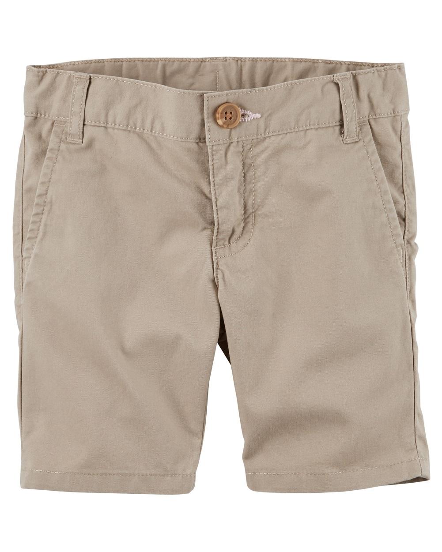Carter's Little Girls' Twill Uniform Shorts, 6 Kids