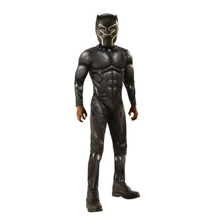 Costumes For Little Kids (Rubies Costume Co. Black Panther Light-up Muscle Chest Child)