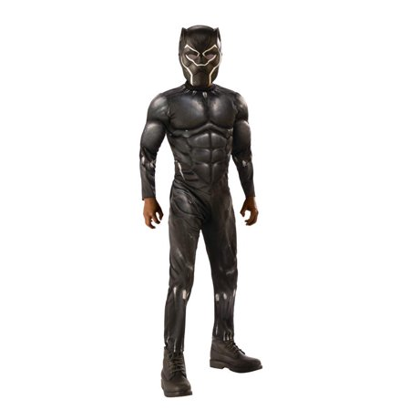 Rubies Costume Co. Black Panther Light-up Muscle Chest Child Costume - Panthers Cheerleader Costume