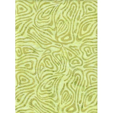 - Tonga Batik Citron Lime Green Chameleon Zebra Java Watercolor Blender B1463 ~ HALF YARD ~ Tie Dye (Ikat) Bali Batik Quilt Fabric 100% Cotton 45