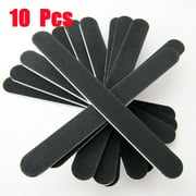 Professional Nail Files, 100-180 Grit, 10 ct - Black