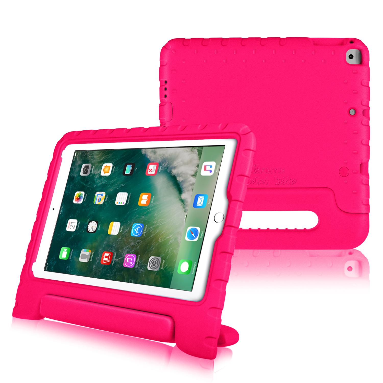 "Fintie iPad 9.7"" 6th/5th Gen 2018 2017, iPad Air/ Air 2 Convertible Handle Kiddie Case Bumper Cover, Magenta"