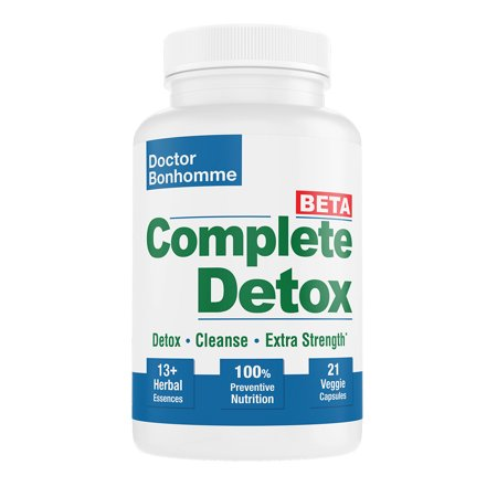 Complete Detox [BETA Formula ]7 day 21 Caps ? Accelerated whole body detox with laxative for most thorough (Best Whole Body Cleanse And Detox)