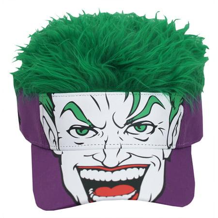 Joker Hat (Batman Joker DC Comics Green Flair Hair Adjustable Visor Cap)