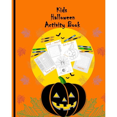 Halloween Safety Word Search (Children's Holiday Games: Kids Halloween Activity Book: Brain Teaser for kids Simple Word Search puzzles Coloring pages Dot-to-dot drawings Hang man skeleton)