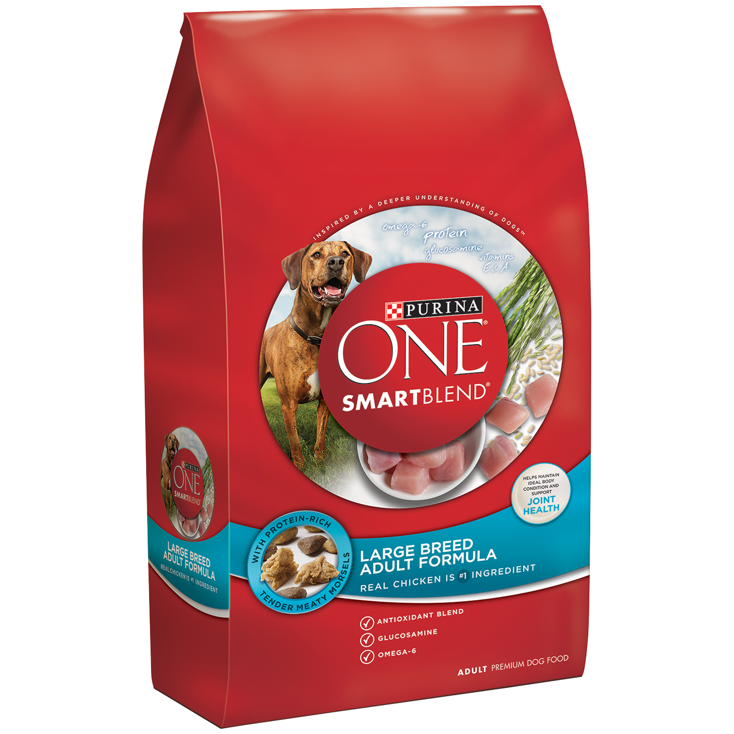 Purina ONE SmartBlend Large Breed Adult Formula Adult Premium Dog Food 31.1 lb. Bag