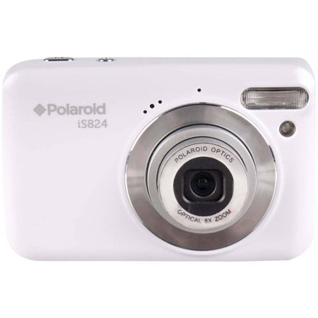 Polaroid White Is824 Digital Camera With 16 Megapixels And 8X Optical Zoom