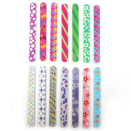 - New 12 Double Sided Nail File Emery Board Manicure Pedicure Gift Set Design 7