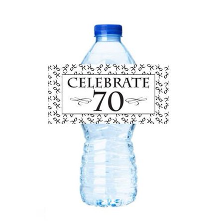 Celebrate 70 (70th Birhtday) Party Decorations 15ct Water Bottle Sticker Labels](70 Decorations)