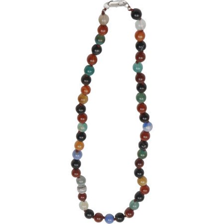 290-MFAN Bret Roberts Multi Color Flower Agate Necklace