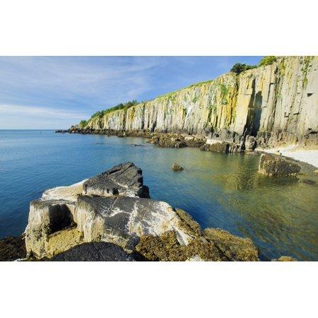 Basalt Rock Cliffs Bay Of Fundy Brier Island Nova Scotia Canada Poster Print By Dave Reede  Design Pics