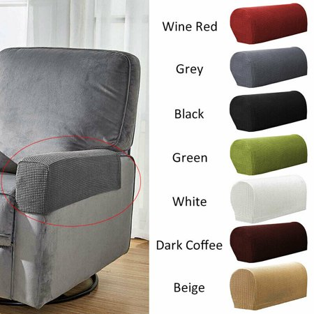 Stretch 2 Piece Furniture Armrest Covers Slipcovers Sofa Couch Chair Arm Protectors Armchair Cover For Recliner Sofa Couch Chair
