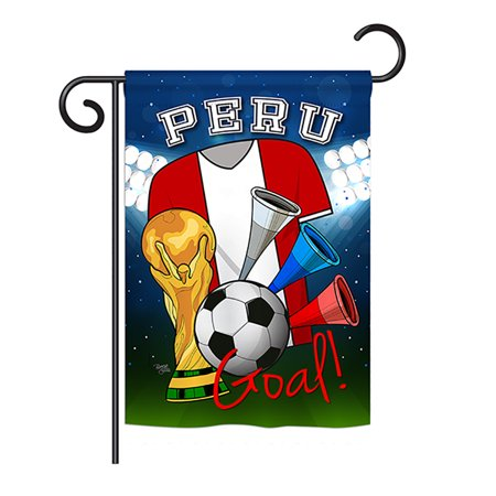 Ornament Collection - World Cup Peru Soccer Interests - Everyday Sports Impressions Decorative Vertical Garden Flag 13