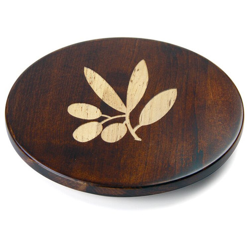 Martins Homewares 85057M Artisan Woods Olive Branch Trivet, Brown - 0.75 x 8 in.