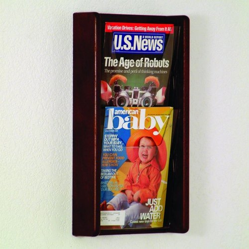 Wooden Mallet AC19-2 Two Pocket Wall Display
