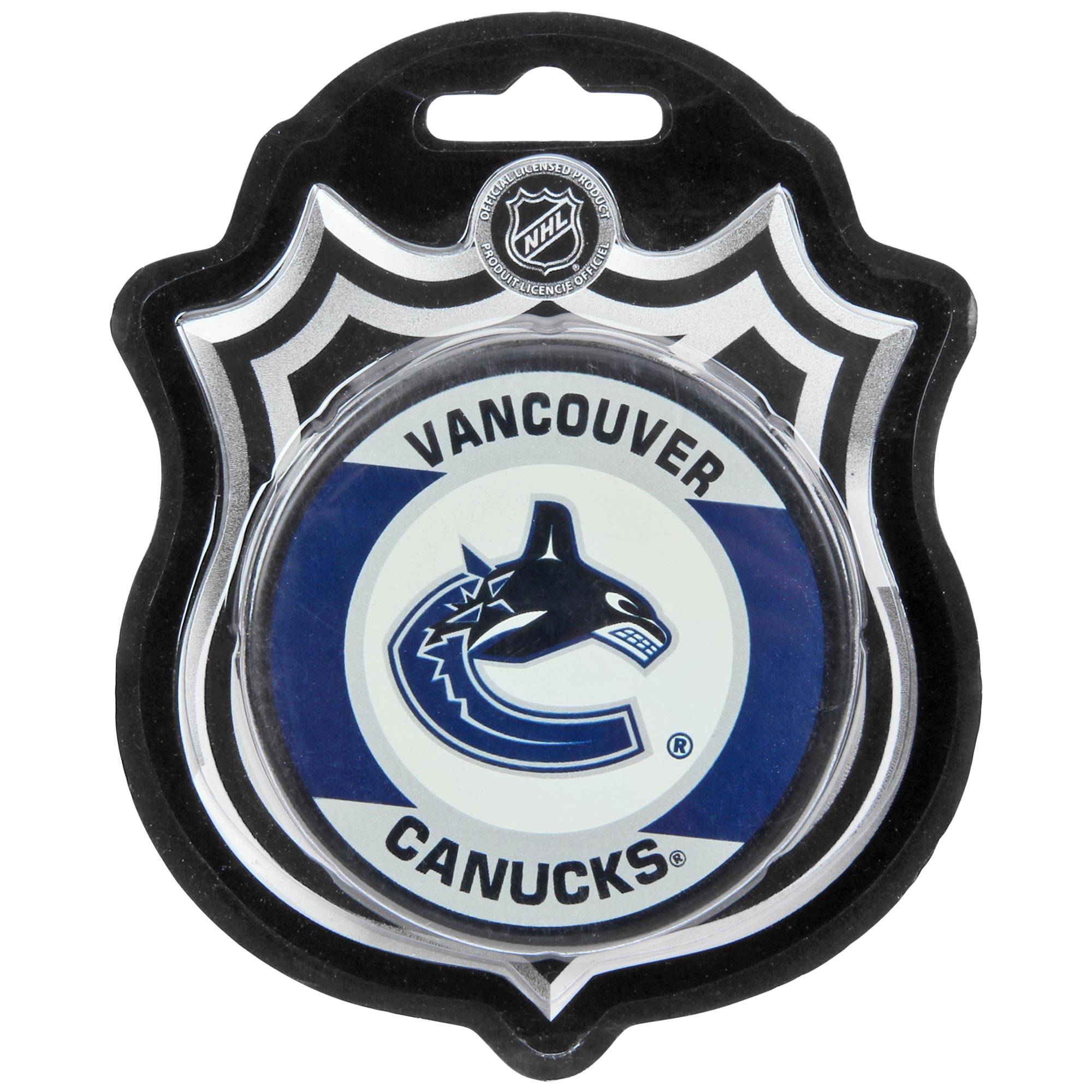 Vancouver Canucks Sher-Wood Retro Hockey Puck - No Size