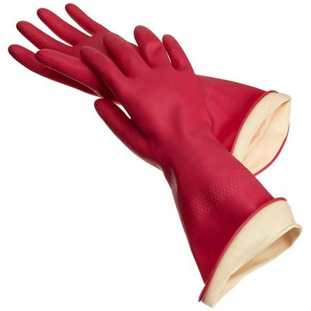 Premium Water Stop Gloves, Medium 1pr, One pair of size medium waterstop rubber gloves by casabella By - Casabella Water Stop