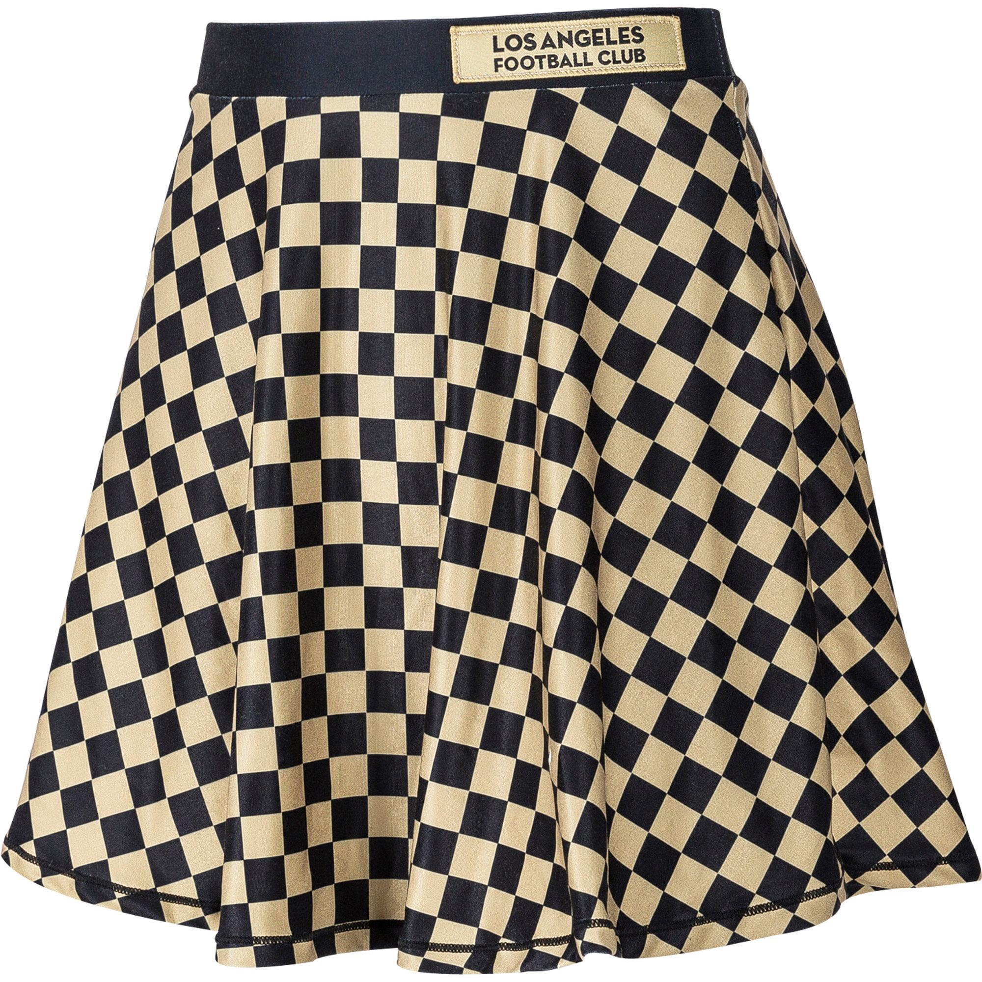 LAFC ZooZatz Women's Circle Mini Skirt - Black/Gold