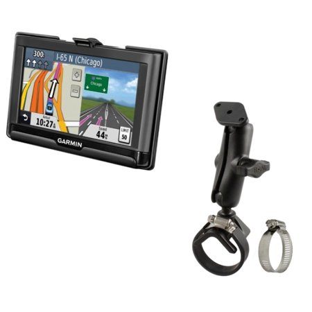 Strong Yoke Strap Tube Rail Mount Holder For Gps Garmin Nuvi 52 52Lm 54 54Lm 55 56 56Lmt 57 57Lm 57Lmt   58Lmt