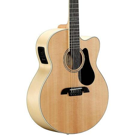 alvarez aj80ce 12 12 string jumbo acoustic electric guitar natural. Black Bedroom Furniture Sets. Home Design Ideas