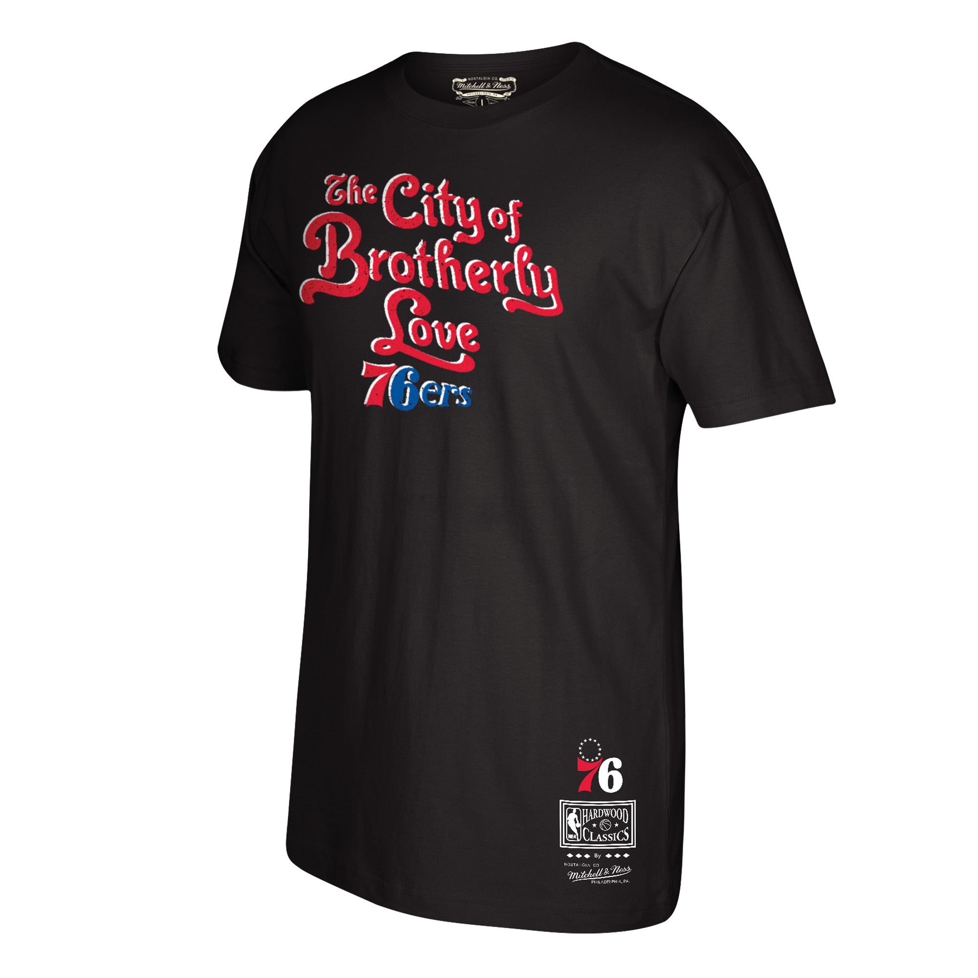 Philadelphia 76ers Mitchell & Ness Hardwood Classics City of Brotherly Love Hometown T-Shirt - Charcoal