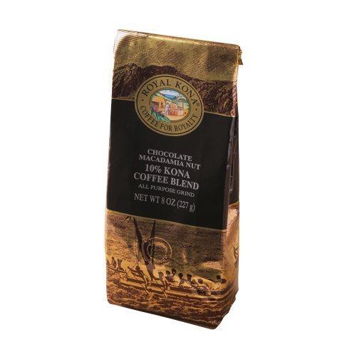 Chocolate Macadamia Royal Kona 8 Oz Medium Light Roast Ground