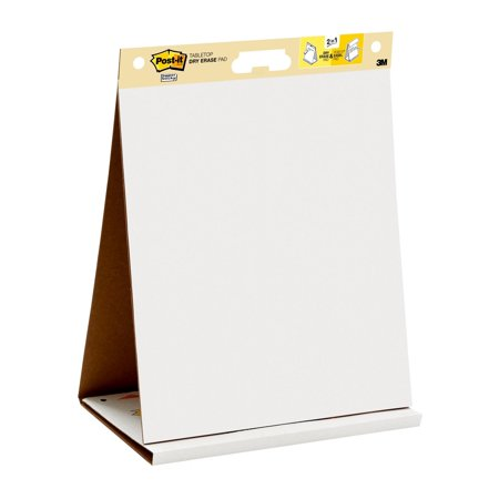 Post It Tabletop Easel Pad With Dry Erase Surface 20 X 23 Inches White Sheets