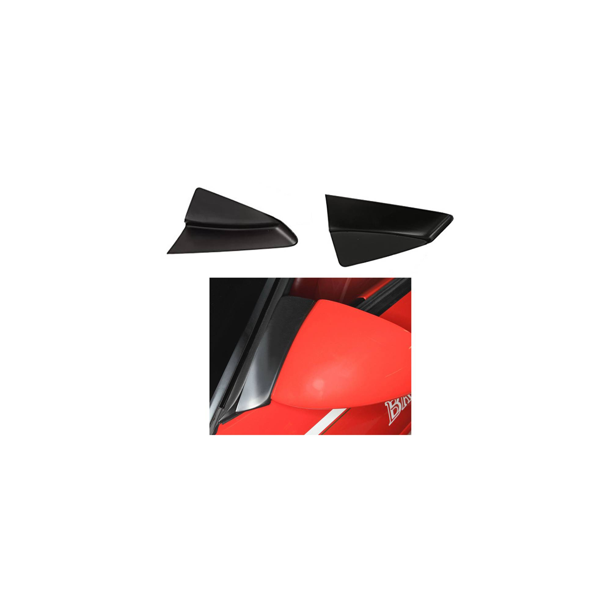 Ecklers Premier Quality Products 25-128892 Corvette Fender Cover Red With Embroidered C5 Logo