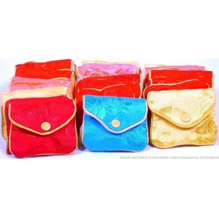 36 Jewelry Chinese Silk Pouches Chain Gift Display