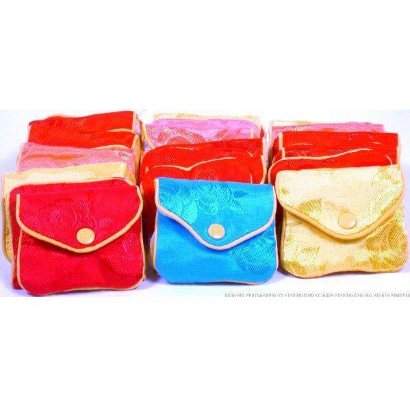 """36 Jewelry Chinese Silk Pouches Chain Gift Display 3"""""""