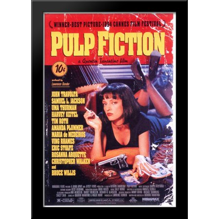 Pulp Fiction 28x40 Large Black Wood Framed Print Movie Poster Art