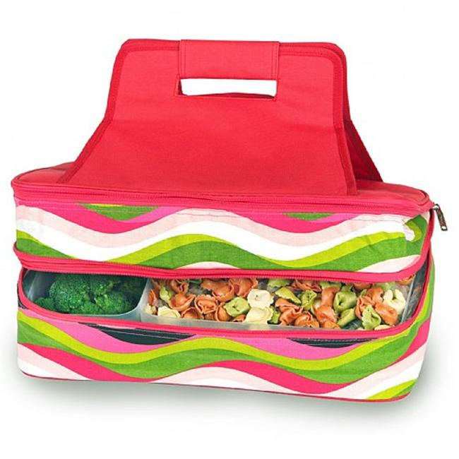 Picnic Plus Psm-721Ww Entertainer Hot & Cold Food Carrier- Wavy Watermelon