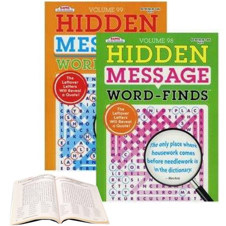 Hidden Message (12 Crossword Puzzle Word Finds Search Hidden Message Book Complete Pages Letters)