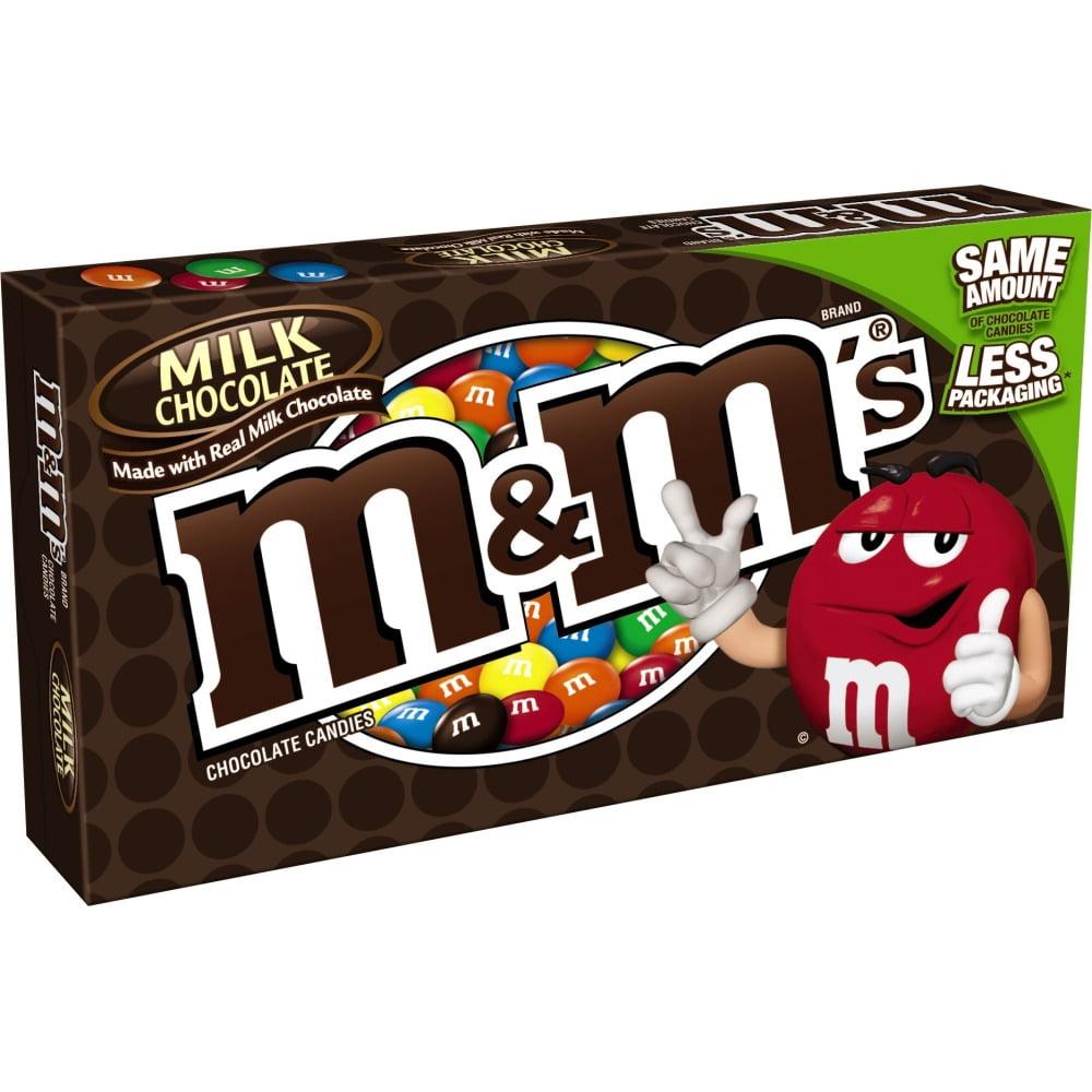 M&M's, Milk Chocolate Candy Movie Theater, 3.4 Oz