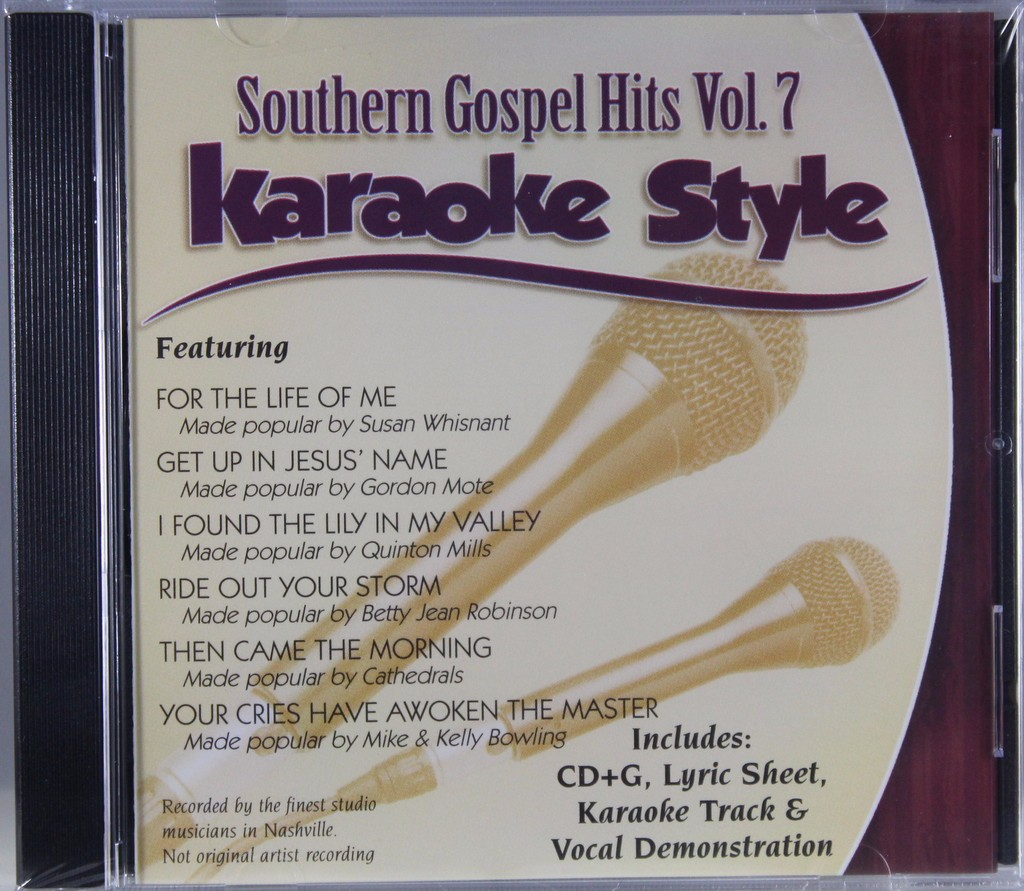 Southern Gospel Hits Volume 7 Daywind Christian Karaoke Style New CD+G 6 Songs by Daywind