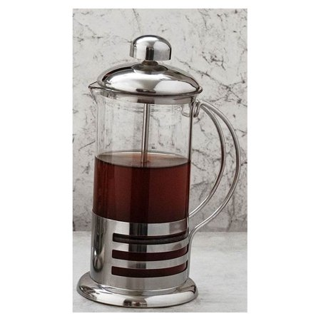Coffee/Tea Press Pot, Stainless, 12 oz.