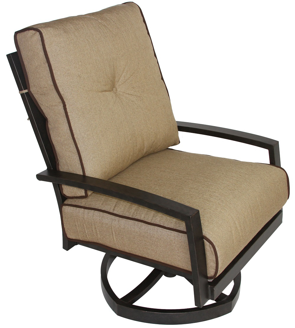 Quincy Cast Aluminum Outdoor Patio Club Swivel Rocker Chair