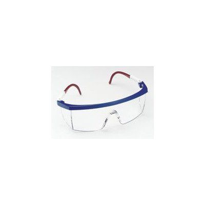 Aearo Technologies Plus Safety Glasses With Red-White-Blue Frame With Clear Lens