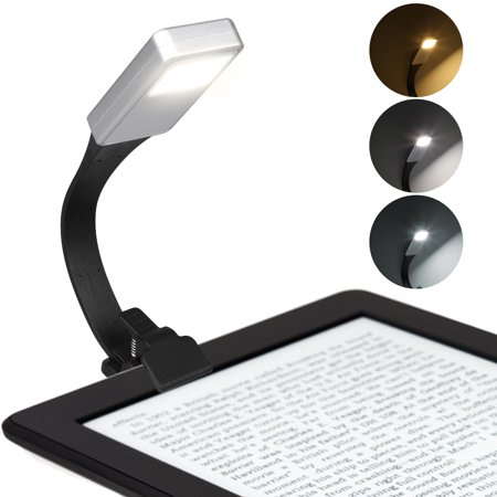 TSV LED USB Clip on Night Reading Light for Bed - Eye Care Reading Lamp with Magnet Clip for Books and Kindles, Up to 3 Hours Reading, Lightweight, Ideal for Bookworms, Kids (Kindle Kids Reading App)