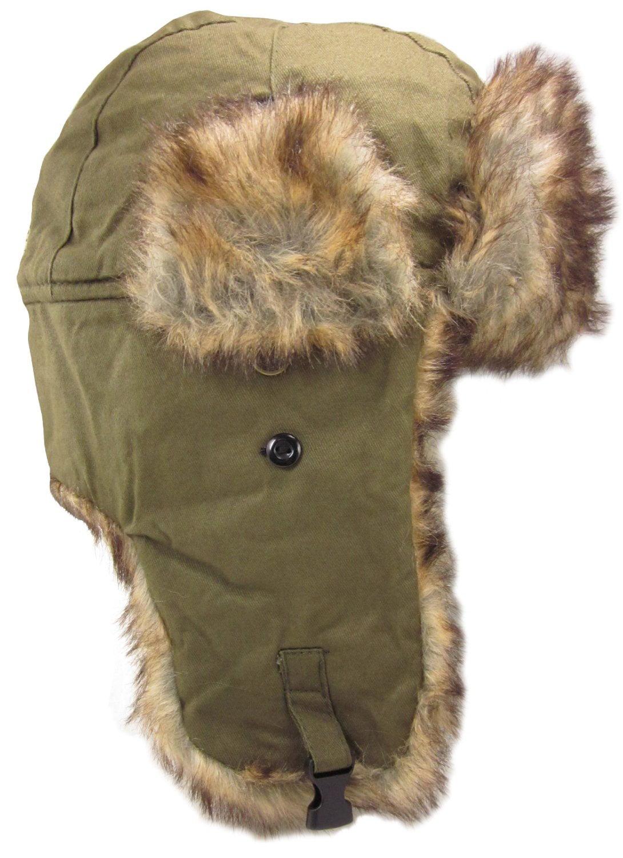 d092a4c276f Dakota Dan Trooper Ear Flap Winter Bomber Cap w  Faux Fur Lining Hat NEW  NWT - Walmart.com