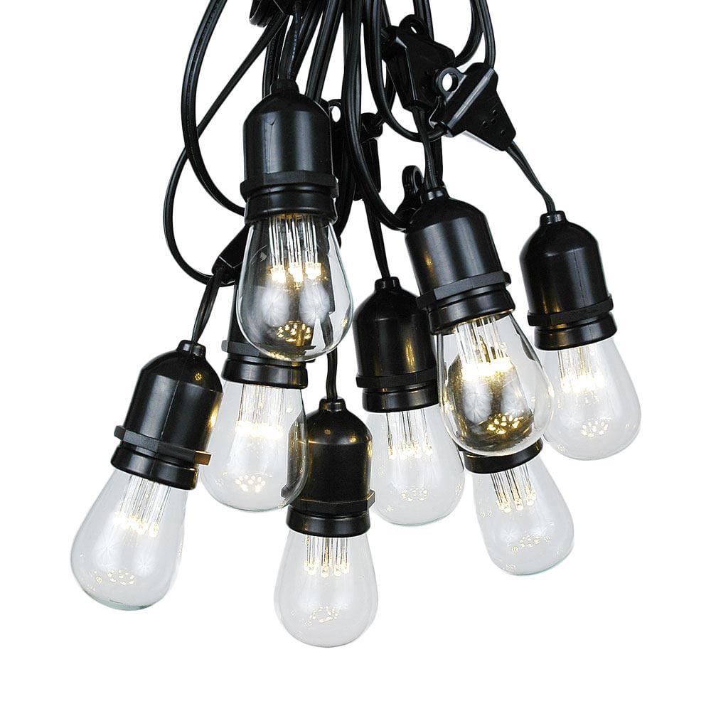 Outdoor String Lights Medium Base : 100 Foot S14 Edison Outdoor String Lights Suspended Socket String Grade Commercial - Lights ...