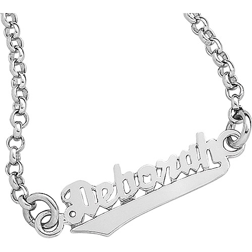personalized script name sterling silver bracelet