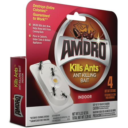 Amdro Ant Killing Bait Stations, For Indoor Use, 4